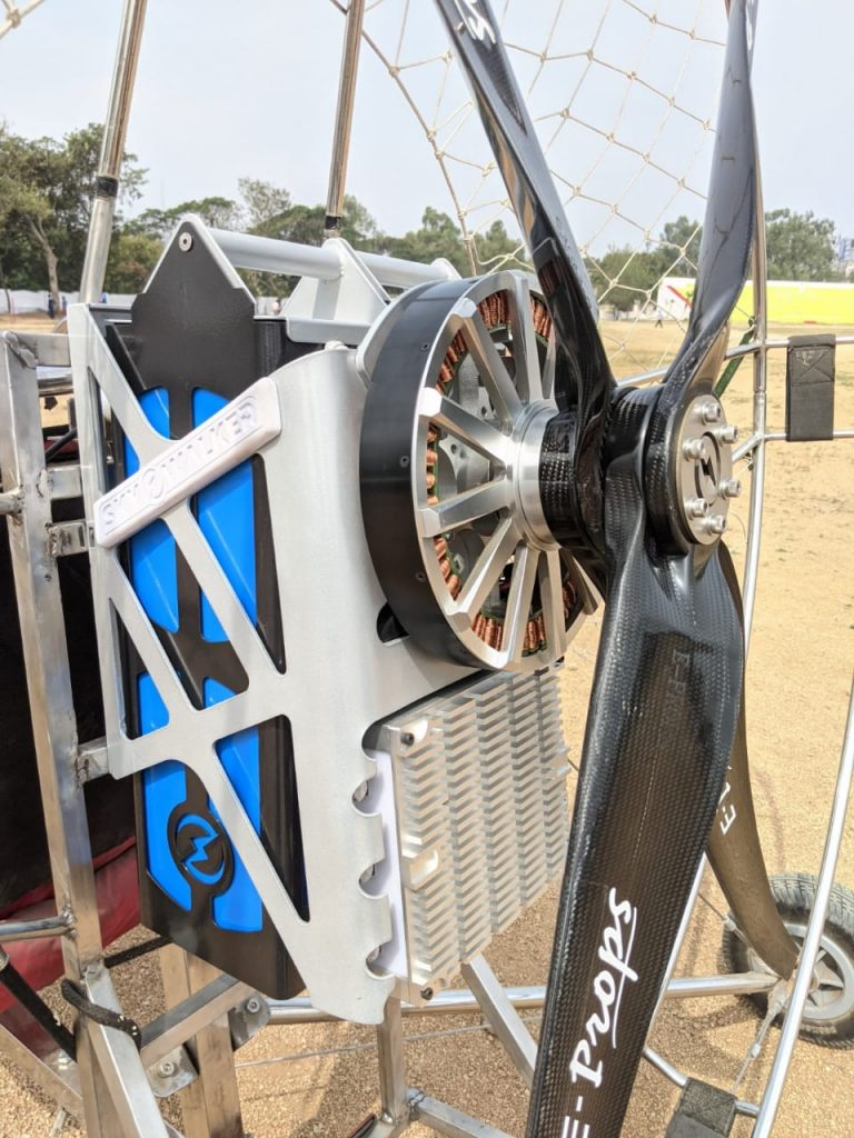 paramoteur : détail du moteur électrique marathon skywalker