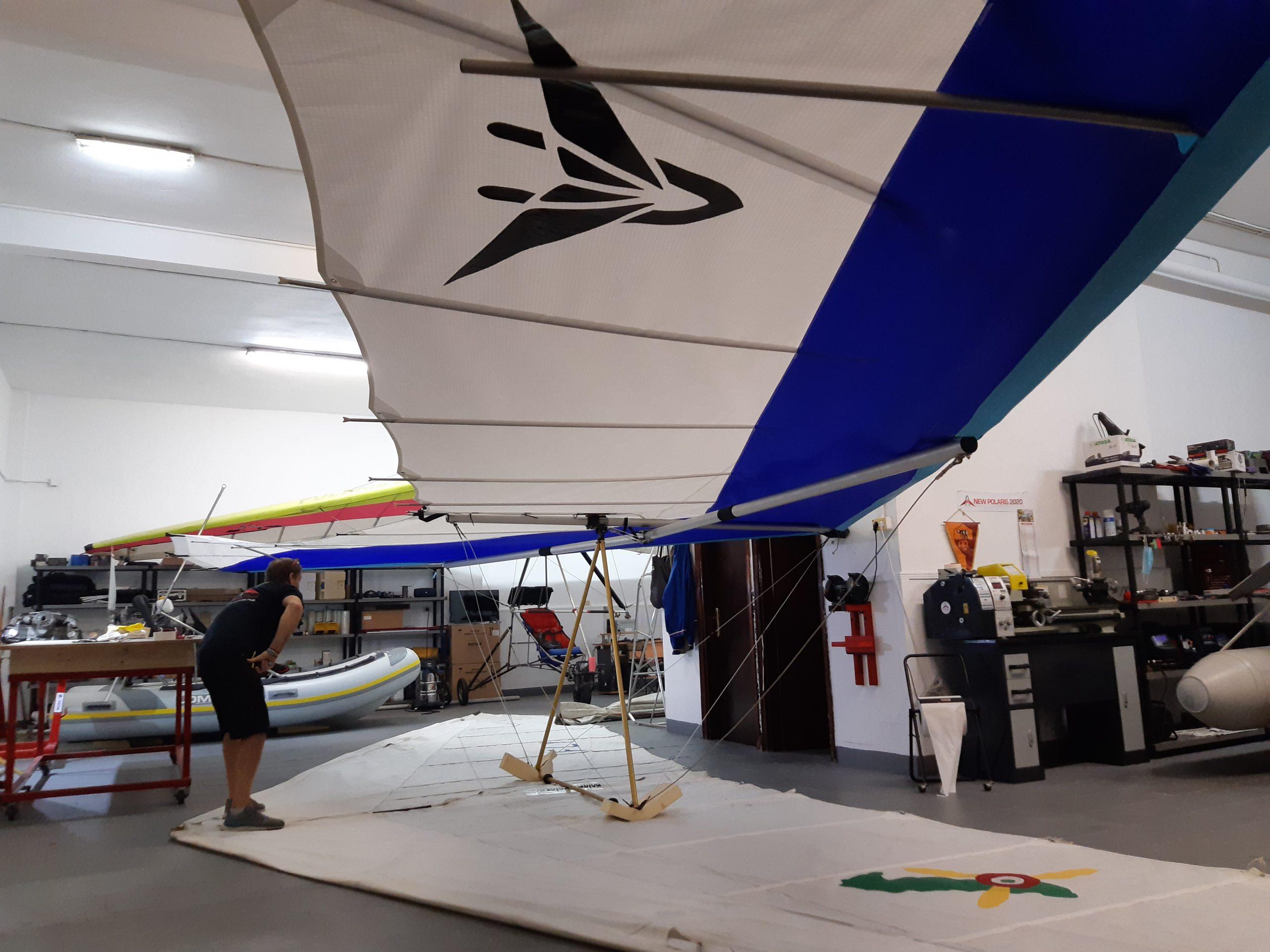 l'aile new polaris 2020 en atelier de montage