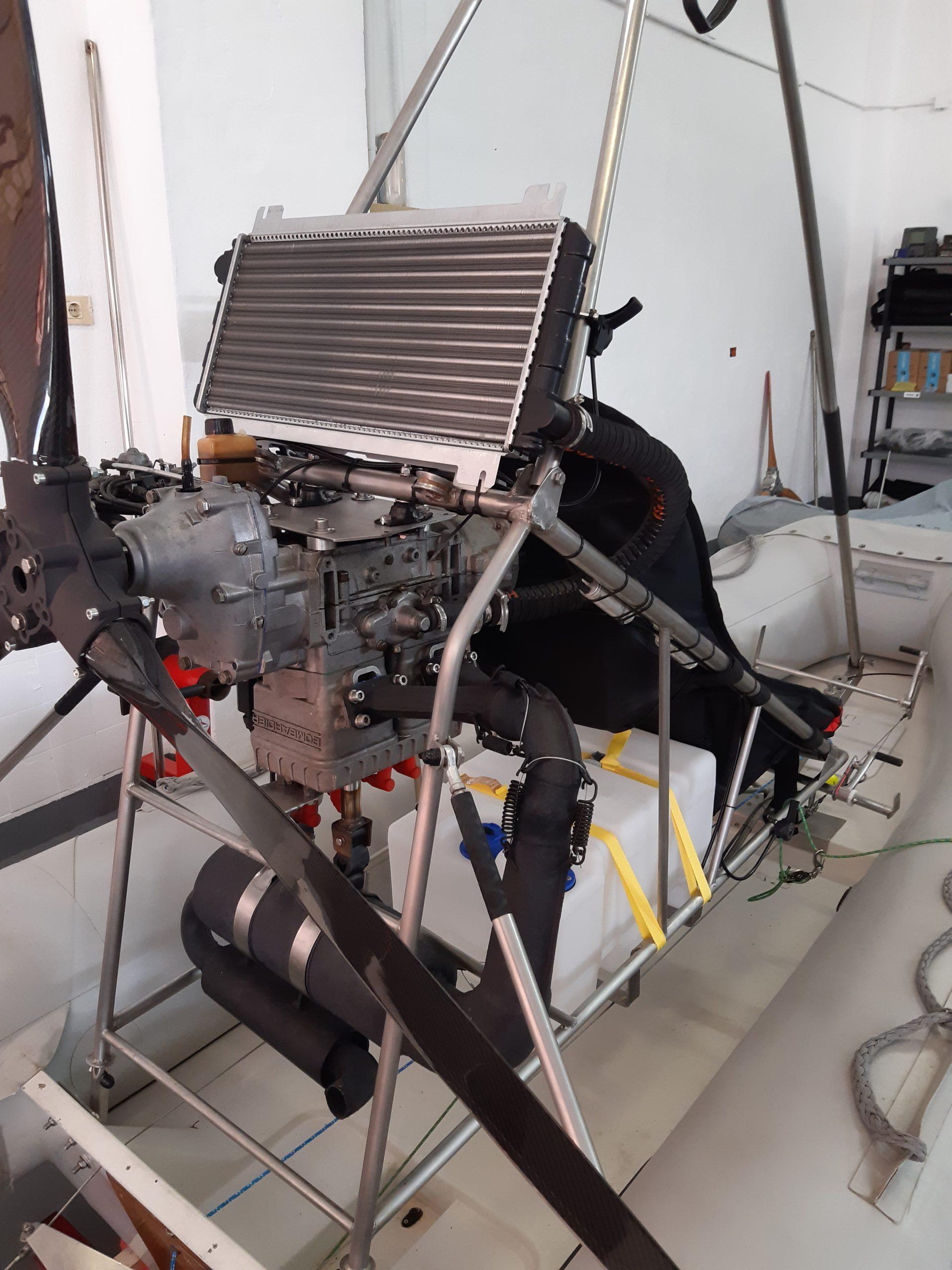 détail moteur rotax polaris