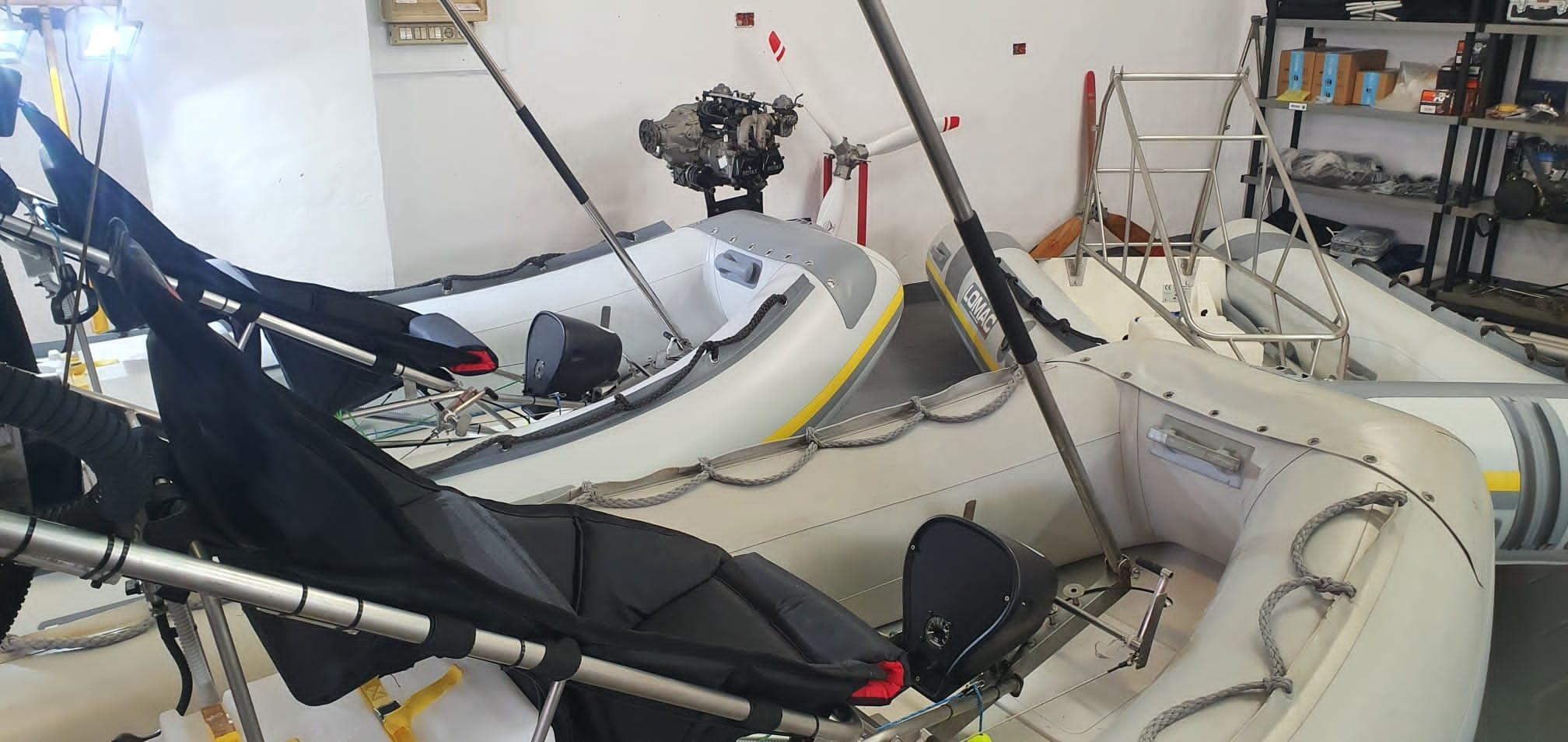 vue d'ensemble atelier bateaux volants polaris