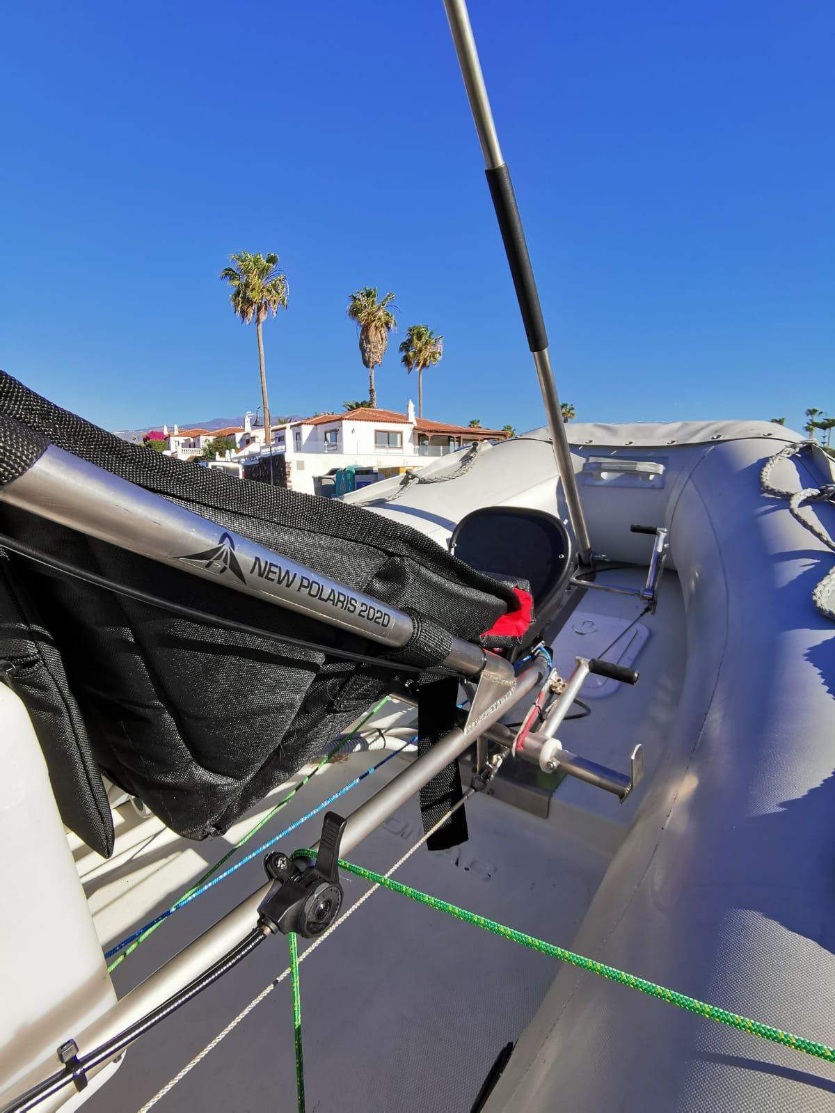 detail du cockpit bateau volant new polaris 2020